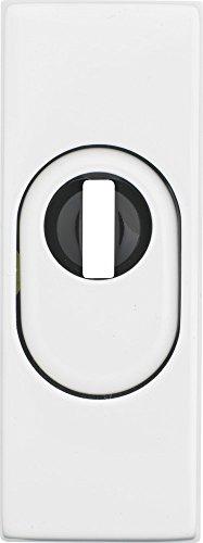 ABUS Tür-Schutzrosette RSZS316 mit Zylinderschutz für Metalltüren, weiß, 09409