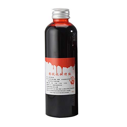 Yiifunglong Botella de sangre falsa de 30 ml / 60 ml realista de Halloween fcil de usar, falsa broma de sangre vampiro cosplay Props sangre ranca 60 ml