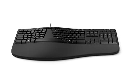 Microsoft Teclado ergonómico (LXM-00001), negro
