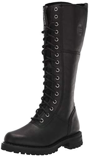 HARLEY-DAVIDSON FOOTWEAR Women's Walfield Motorcycle Boot, Black, 10 M US