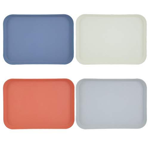 Trays Quadratische Tablett Haushalt geeignet for Küche Frühstück Tablett Fruchtbehälter Brotschale (1 Satz von 4 Stück)