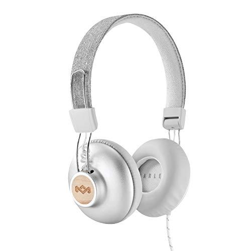 House of Marley Positive Vibration 2 Kopfhörer, Geräuschisolierung, Premium Sound, Mikrofon, nachhaltige Materialien, recycelbare Verpackung, unterstützt One Tree Global Wiederaufforstung - Silver