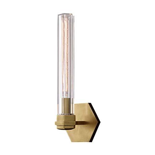 Luminaires & Eclairage/Luminaires intérieur/AP Applique Murale en cuivre Lampe de Salon en Cristal Simple Lampe de Salon Chambre Chevet Miroir de Salle de Bains Miroir Avant et après Lampes Modern