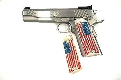 1911 American Flag Faux Ivory Fits Colt-Kimber-S&W-Springfield-Taurus-Caspian-Ruger