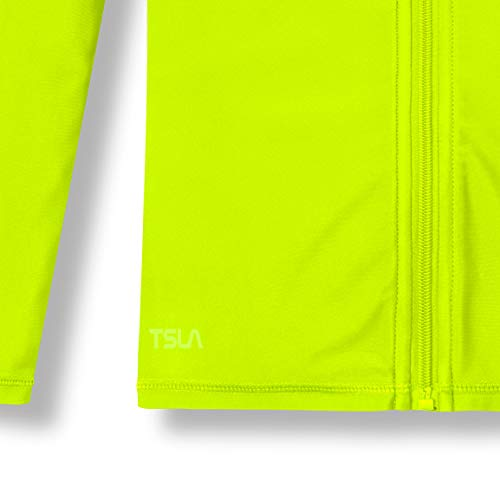 (テスラ)TESLAキッズラッシュガード長袖フルジップ[UVカット・吸汗速乾]UPF50+ジュニア男の子女の子ベビープール海水浴水着BSZ03-NEY_XS