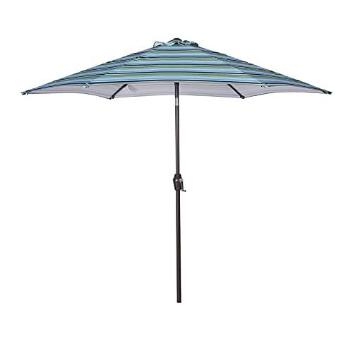 paritariny Patio Ombrello, 8.6 Piedi Beach Beach Patio Ombrelloni Baldacchino U-V Protezione U-V a Risparmio Multiuso Senza ombrelli Base Ombrello Esterno (Color : Blue)