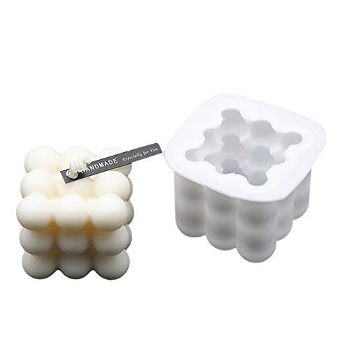 WHFY 3D Kerzenform Silikonform, Silikon Kerzen Gießform Craft DIY Silikon Kerze Formen Zum Gießen Form Für Handwerk Süßigkeiten Dekorieren, (Mehrkugelform02)