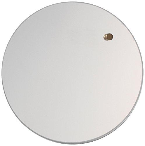 NAGA noord, ronde magneetglazen plaat 25 cm spiegel