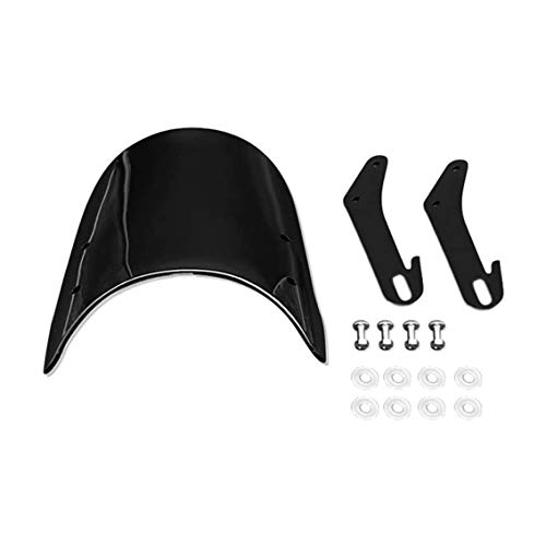Amhuui Motorcycle Windshield Wind Deflector, Universal Motorcycle Windshields Scratch-resistant Roller Windshield, Scratch Protection Screen Unbreakable Cold Party