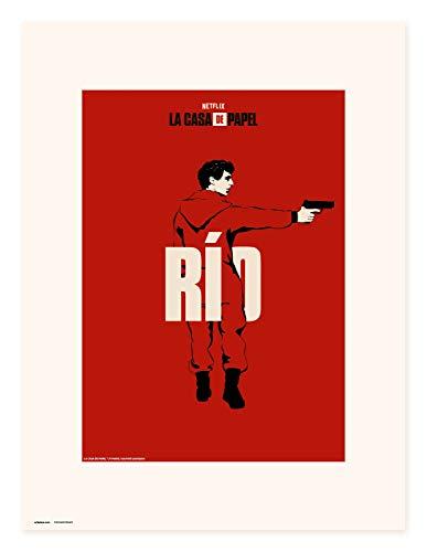 Erik Art Print | Impresin, La Casa de Papel Netflix, Ro, 30 x 40 cm