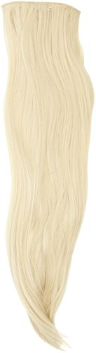 BiYa Hair Elements Thermatt Extension de cheveux synthétiques à clipser Lisses Blond clair 613 Longueur 61 cm 140 g