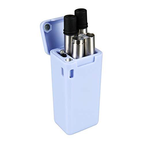 UWOOD Pieghevole in Acciaio Inox Paglia, Portable Extra Lungo 22,9 cm Pieghevole, Metallo Cannuccia cannucce riutilizzabili con Spazzola di Pulizia (Folding Straw Blue)