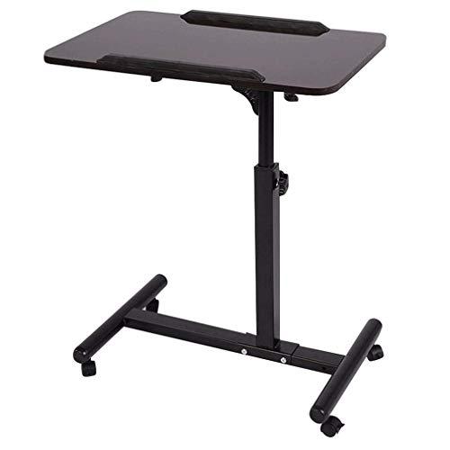 OverBed Tisch Teelicht C Beistelltisch Höhenverstellbarer mobiler Schreibtisch Dual Action Bett und Stuhl Tisch Tragbar Über Bett Tisch 2416 Zoll Schwarz