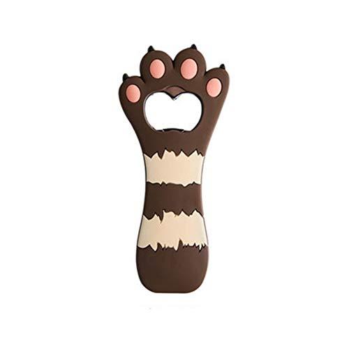 Frigorífico imán abrelatas de Cerveza Dibujos Animados de Gatos de Gato Botella de Botella de Zumo de Soda de Soda Regalos de Silicona Herramientas de Cocina inlijianzhugon (Color : Brown)