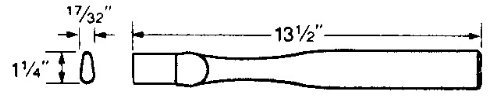 "Vaughan & Bushnell 641-32 13-1/2"" Hatchet Replacement Handle - Supreme Grade (64132)"