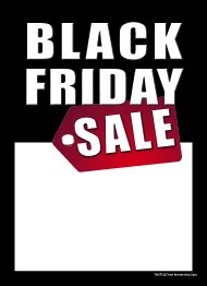 T50BFS Black Friday Sale - Slotted Sale Tags - 5' x 7' (100 Pack)
