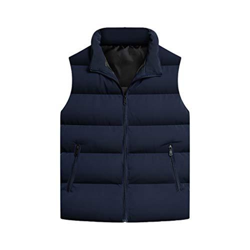Casual Chalecos de invierno para hombre ropa exterior a prueba de viento chaqueta sin mangas con cremallera bolsillos con cremallera caminata chaleco de pesca chaleco sin mangas chaleco Compresible