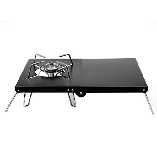Outdoors Mesa de soporte para estufa de camping, mesa plegable de aleación