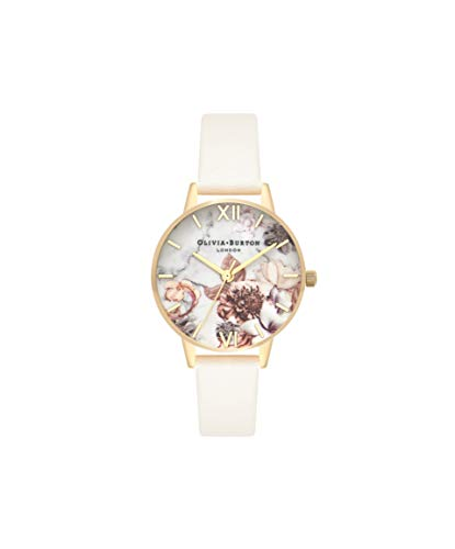 Olivia Burton Damen Analog Quarz Uhr mit Leder Armband OB16CS15