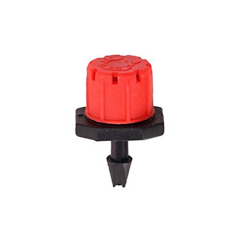 Generic 50pcs 8 Outlets Red Drip Adjustable Flow Dripper Micro Sprinklers