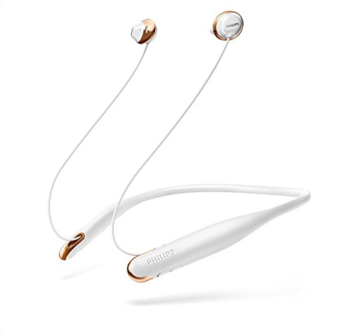 Philips Flite Hyprlite SHB4205WT - Auriculares Bluetooth (inalámbricos, Deporte, con Manos Libres,diseño, Ligero, ajusto Seguro) Color Blanco