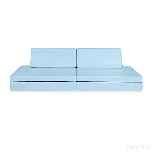 Foamnasium Blocksy Kids Couch, Baby Blue