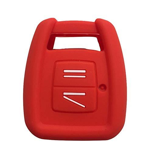 RWJFH Funda de Silicona para Llaves Fundas de Silicona para Llaves de Coche para Opel Vauxhall Astra Zafira Vectra Tigra Holden Funda para Llaves para Llavero, Alarma, Control Remoto, Rojo