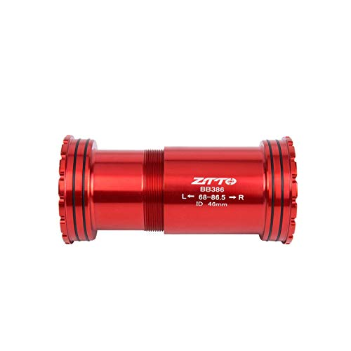 ngzhongtu ZTTO BB386 EVO PF30 30 Bicicleta Press Fit Brackets Inferiores Eje para MTB Road Bike Rotor 3D BB K Force 30mm Juego de Platos y bielas - Rojo