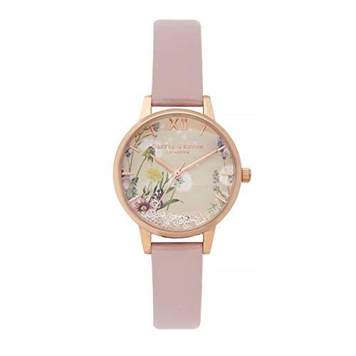 Olivia Burton Damen Analog Quarz Armbanduhr mit Lederarmband OB16SG04