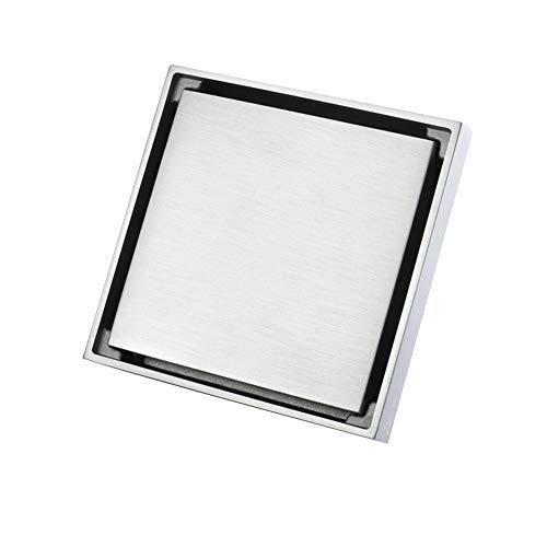 Vierkante onzichtbare look douche afvoer kanaal, koper anti-odor douche tegel afvoer anti-inklappen douche drainage roosters A