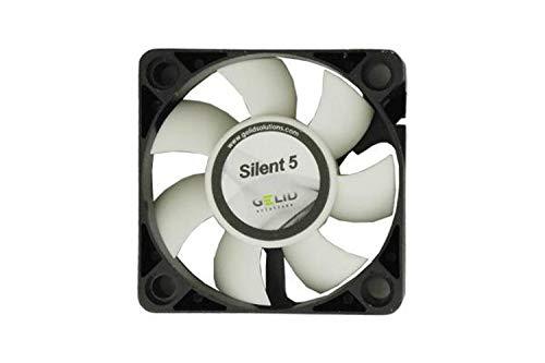 GELID SOLUTIONS Silent 5 de 3 Pines | Ventilador de 50mm para Cajas de pc estándar | Operación silenciosa | Aspas del Ventilador optimizadas