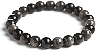 Homelavie 8 ملليمتر الخرز الحجر الطبيعي تمتد سوار الطاووس العقيق شفاء أساور للنساء الرجال فتاة ولد كريستال مجوهرات هدية