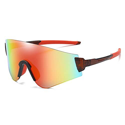 ACJB Gafas de Sol Deportivas Gafas para Hombres Mujeres PC Marco irrompible para Hombres Mujeres Ciclismo Escalada Pesca Conducción