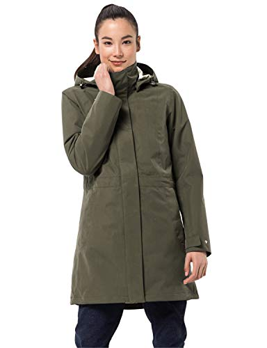 Jack Wolfskin Damen Ottawa Coat wasserdichter 3in1 Mantel, Granite, M