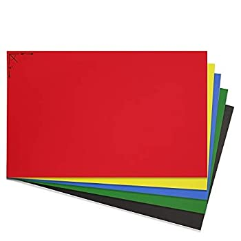 Emraw Poster Board Sturdy Office Assorted Colors Blanks Sheets Sign Scrapbooking Blank Graphic Display Board Durable for Arts and Crafts Projects Blank Board 5 per Pack  Pack of 2