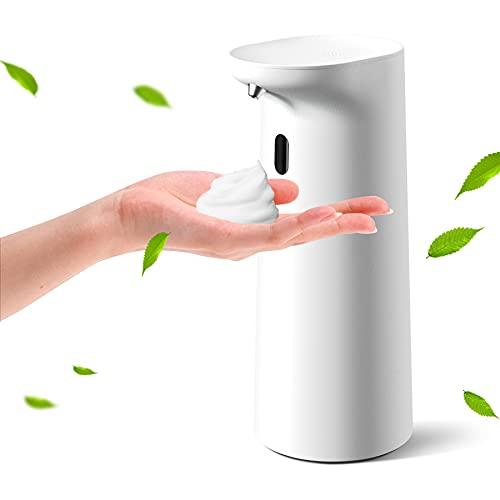 ソープディスペンサー 自動 泡 【2021年 新品発売】 ShineWind ディスペンサー ハンドソープディスペンサー オートディスペンサー 泡タイプ 電池式 400ml IPX7防水 キッチン 洗面所などに適用 日本語取扱説明書付き ホワイト