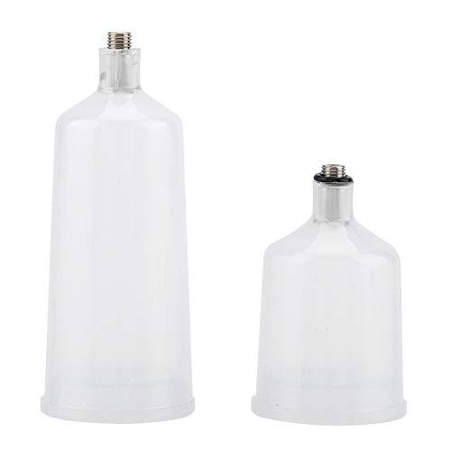 Nikou Airbrush Cup - 2 STKS Plastic Spray Paint Cup Gun Airbrush Cup Pot Fastmover schroefdraad Connector Onderdeel (20ml, 40ml)