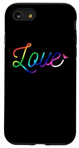 iPhone SE (2020) / 7 / 8 Rainbow Love Cute LGBT Gay & Lesbian Pride Gift Case