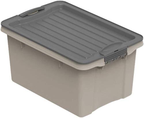Rotho Eco Compact Aufbewahrungsbox 13l - 27 x 18,5 x 15 cm - cappuccino/anthrazit