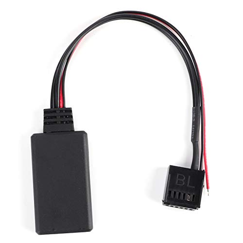 Qiilu Cable auxiliar, módulo Bluetooth para coche, cable AUX-IN, adaptador de audio inalámbrico, apto para Ford Focus/Mondeo/Fiesta 6000 CD