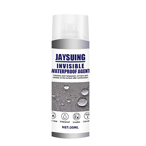 WBTY - 1 spray de 30 ml, resistente al agua invisible, sellador antifugas, spray de reparación para azulejos de baño, revestimiento impermeable para techo de pared exterior