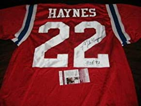Mike Haynes New England Patriots HOF JSA Autographed Signed Jersey - Certificate Included