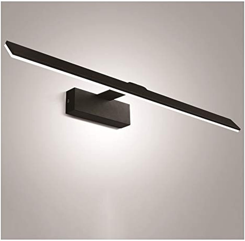 SLIANG Spiegel Frontleuchte Schwarz LED Spiegel Licht Badezimmer Wasserdichte Nebel Spiegel Schrank Licht Moderne Minimalistische Badezimmerspiegel Licht Wandleuchte (Zwei Optionen)