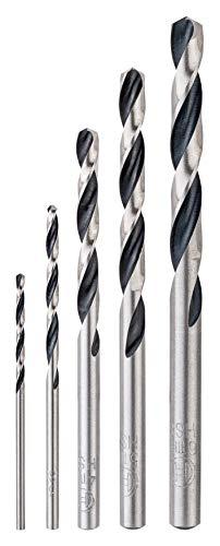 Bosch Professional 260925C137 5 TLG. HSS Spiralbohrer Wood Set (für Metall und Holz, Zubehör Bohrmaschine) 5-Piece Spiral Bit, Accessory Drill
