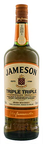 Jameson Triple Triple Irish Whiskey 1,0L Whisky (1 x 1.0 l)
