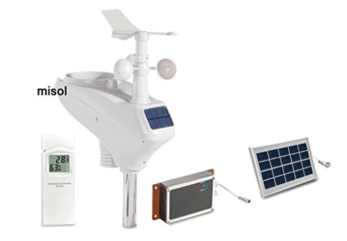 MISOL Professional weather station WCDMA/GSM, data upload to wunderground, SMS message/Stazione meteo professionale WCDMA/GSM, caricamento dati su wunderground, messaggio SMS