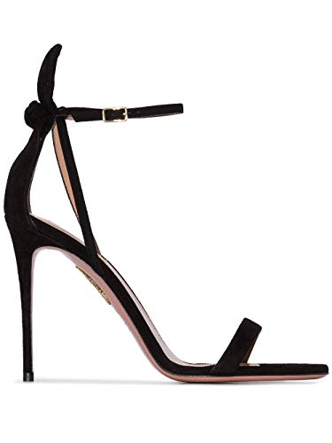 AQUAZZURA Luxury Fashion Damen DENHIGS0SUE000 Schwarz Wildleder Sandalen | Frühling Sommer 20