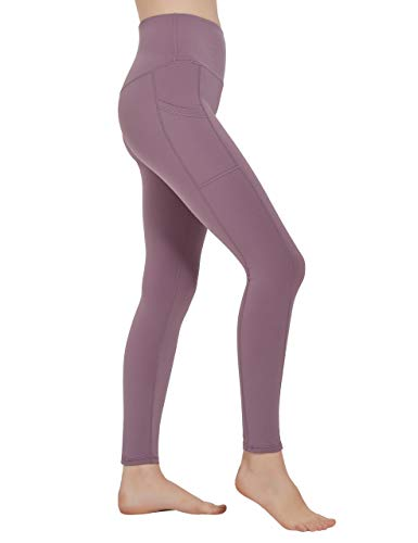 High Waisted Workout Yoga Pants Athletic Running Tummy Control Leggings with Pockets for Women Navy Blue-M