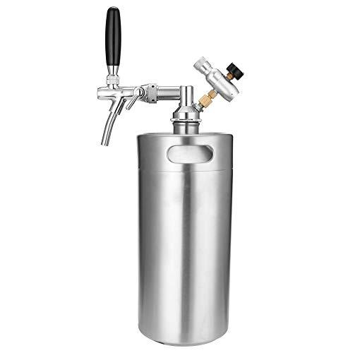 XHUENG Útil Lo Nuevo de Acero Inoxidable de 3,5 litros 5L Mini Mini Barril Grifo dispensador de Cerveza con Ajustable Grifo CO2 inyector de Primera Calidad (Color : 5L)