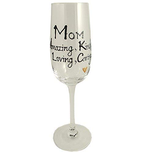 Dreamair Mom Cadeau Champagne Verre Flute (Argent/Noir)